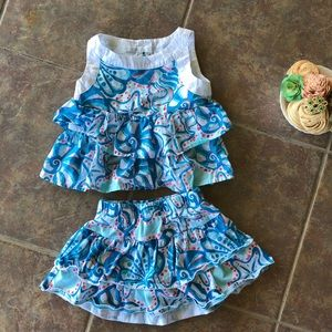 🔵 4/$20 Gymboree Two Piece Summer Set 18 24 mo